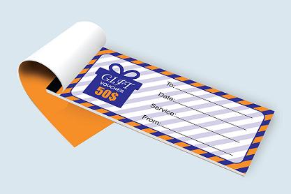 Custom Printed Gift Vouchers & Certificates